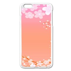 Flower Season Pink Purple Red Apple Iphone 6 Plus/6s Plus Enamel White Case