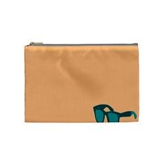 Glasses Blue Orange Cosmetic Bag (medium)