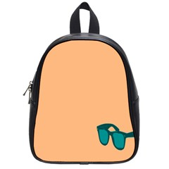 Glasses Blue Orange School Bags (Small)