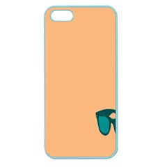 Glasses Blue Orange Apple Seamless iPhone 5 Case (Color)