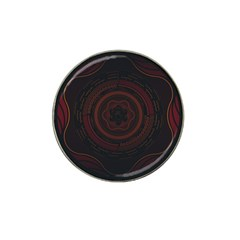 Hand Illustration Graphic Fabric Woven Red Purple Yellow Hat Clip Ball Marker