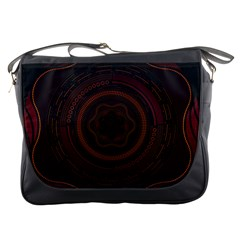 Hand Illustration Graphic Fabric Woven Red Purple Yellow Messenger Bags