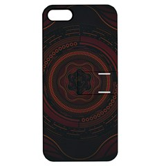 Hand Illustration Graphic Fabric Woven Red Purple Yellow Apple iPhone 5 Hardshell Case with Stand