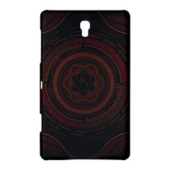 Hand Illustration Graphic Fabric Woven Red Purple Yellow Samsung Galaxy Tab S (8.4 ) Hardshell Case