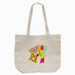 Fruit Watermelon Strawberry Banana Orange Shoes Lime Tote Bag (cream)