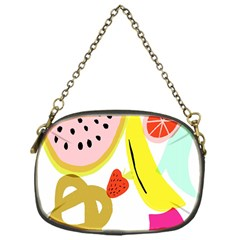 Fruit Watermelon Strawberry Banana Orange Shoes Lime Chain Purses (One Side)