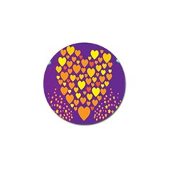 Heart Love Valentine Purple Orange Yellow Star Golf Ball Marker