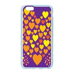 Heart Love Valentine Purple Orange Yellow Star Apple Seamless iPhone 6/6S Case (Color)