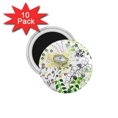 Flower Flowar Sunflower Rose Leaf Green Yellow Picture 1 75  Magnets (10 Pack)