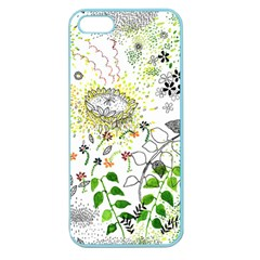 Flower Flowar Sunflower Rose Leaf Green Yellow Picture Apple Seamless Iphone 5 Case (color)