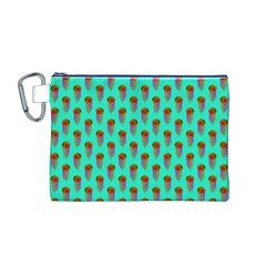 Jellyfish Large Canvas Cosmetic Bag (m)