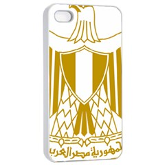 Coat of Arms of Egypt Apple iPhone 4/4s Seamless Case (White)