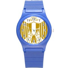 Coat of Arms of Egypt Round Plastic Sport Watch (S)