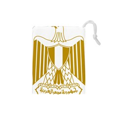 Coat of Arms of Egypt Drawstring Pouches (Small)