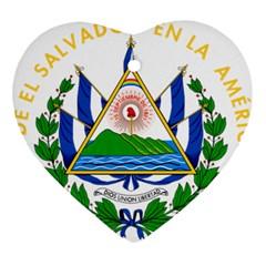 Coats of Arms of El Salvador Ornament (Heart)