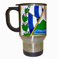 Coat of Arms of El Salvador Travel Mugs (White)