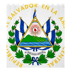 Coat of Arms of El Salvador Shower Curtain 66  x 72  (Large)