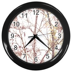 Textured Nature Print Wall Clocks (black)