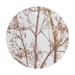 Textured Nature Print Round Ornament (Two Sides)