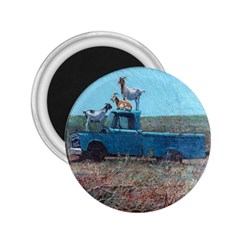 Goats On A Pickup Truck 2 25  Magnets