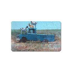 Goats On A Pickup Truck Magnet (name Card)