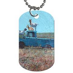 Goats on a Pickup Truck Dog Tag (One Side)