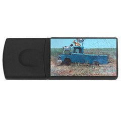 Goats On A Pickup Truck Usb Flash Drive Rectangular (4 Gb)