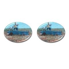 Goats on a Pickup Truck Cufflinks (Oval)