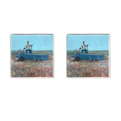 Goats On A Pickup Truck Cufflinks (square)