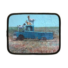 Goats on a Pickup Truck Netbook Case (Small)