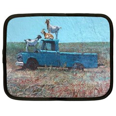 Goats on a Pickup Truck Netbook Case (Large)