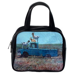 Goats On A Pickup Truck Classic Handbags (one Side)