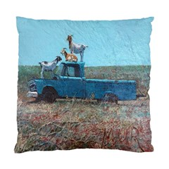 Goats On A Pickup Truck Standard Cushion Case (one Side)