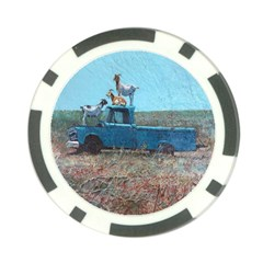 Goats on a Pickup Truck Poker Chip Card Guard (10 pack)