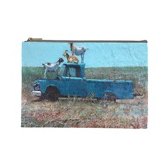 Goats On A Pickup Truck Cosmetic Bag (large)
