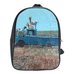 Goats on a Pickup Truck School Bags(Large)