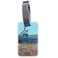 Goats on a Pickup Truck Luggage Tags (One Side)
