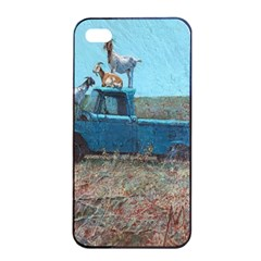Goats on a Pickup Truck Apple iPhone 4/4s Seamless Case (Black)