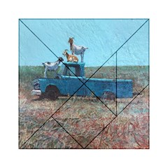 Goats on a Pickup Truck Acrylic Tangram Puzzle (6  x 6 )