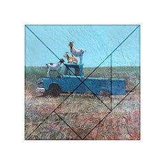 Goats on a Pickup Truck Acrylic Tangram Puzzle (4  x 4 )
