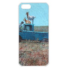 Goats on a Pickup Truck Apple iPhone 5 Seamless Case (White)