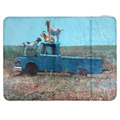 Goats On A Pickup Truck Samsung Galaxy Tab 7  P1000 Flip Case