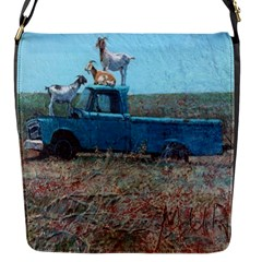 Goats On A Pickup Truck Flap Messenger Bag (s)