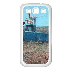 Goats On A Pickup Truck Samsung Galaxy S3 Back Case (white)