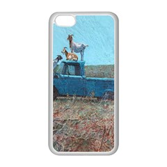 Goats On A Pickup Truck Apple Iphone 5c Seamless Case (white)