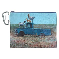 Goats on a Pickup Truck Canvas Cosmetic Bag (XXL)