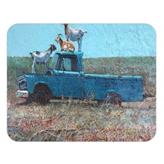 Goats on a Pickup Truck Double Sided Flano Blanket (Large)