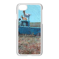 Goats On A Pickup Truck Apple Iphone 7 Seamless Case (white)