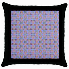 Tropical Fish Blue Throw Pillow Case (black)