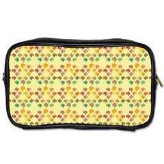 Tropical Fish Yellow Toiletries Bags 2 Side